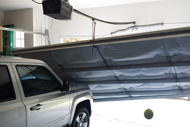 Nashville Out of track garage door repair.